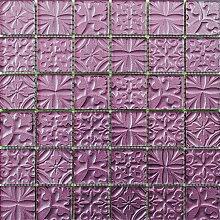 ALFA-CER Mozaik, Glas, Dunkelviolett Metallic,