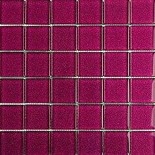 ALFA-CER Mozaik, Glas, Fuchsia Glitter, 29.8 x