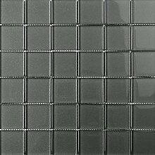 ALFA-CER Mozaik, Glas, Graphitgrau Metallic, 29.8