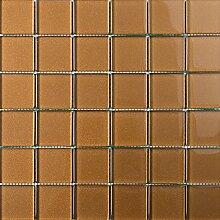 ALFA-CER Mozaik, Glas, Hellbraun Metallic, 29.8 x