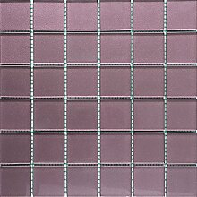 ALFA-CER Mozaik, Glas, Lila Metallic, 29.8 x 29.8