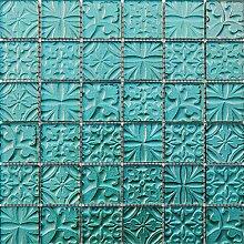 ALFA-CER Mozaik, Glas, Meerblau Metallic 29.8 x