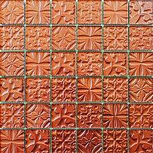 ALFA-CER Mozaik, Glas, Orange Metallic, 29.8 x