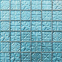 ALFA-CER Mozaik, Glas, Relax Blau Metallic, 29.8 x