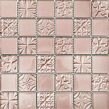 ALFA-CER Mozaik, Glas, Rosa Metallic, 29.8 x 29.8