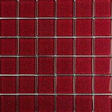 ALFA-CER Mozaik, Glas, Rot Glitter, 29.8 x 29.8 cm