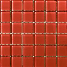 ALFA-CER Mozaik, Glas, Rot Pastell, 29.8 x 29.8 cm