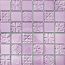 ALFA-CER Mozaik, Glas, Violett Metallic, 29.8 x