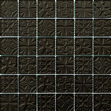 ALFA-CER Mozaik, Glas, Wenge Metallic, 29.8 x 29.8