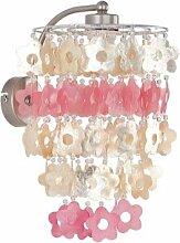 ALFA CONCHA KWIAT/BLUME Pink/Rosa Wandleuchte Wandlampe Lampe