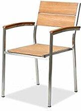 alfa Edelstahl Teak Stuhl Set - Teak A, 2 Stück