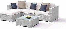 alfa Polyrattan Gartenmöbel Set in Grau satiniert