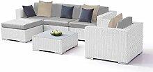 alfa Polyrattan Gartenmöbel Set in Weiß