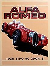 ALFA ROMEO 1938Auto Schild retro Metall blechschild Wandschild Neuheit Geschenk