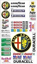Alfa Romeo Logo Autoaufkleber Sponsoren Marken