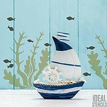Algen Schablone | Wiederverwendbar Nautisch Dekor