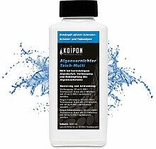 Algenvernichter (0,5 l) für kristallklares Wasser im Teich - gegen Fadenalgen Schwebealgen Schmieralgen, Algenentferner Fadenalgen-Stopp Algizid gegen Algen, fadenalgenfrei durch Fadenalgenvernichter Koiteich Gartenteich