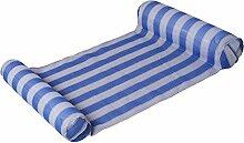 Alger Aufblasbare sich hin- und herbewegende kompakte und tragbare Swimmingpool-Matten-Wasser-Hängematte für Erwachsene und Kinder, 134 * 67CM , blue
