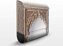 Alhambra 39x46x13cm Briefkasten, Briefkästen, Design, Edelstahl, Brief Kasten, Brief Kästen, Bauwerke, Orientalisch, Tore, Steine, Eingang