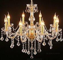 Ali Continental transparentem Kristall Kerze Kronleuchter Schlafzimmer Wohnzimmer Esszimmer Kronleuchter Glas Bartheke Bekleidungsgeschäf