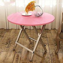 Ali Einfache moderne Faltbare Tisch Falttisch Restaurant Couchtisch ( Farbe : Pink , größe : 80cm )