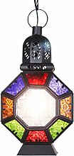 Ali LampsMan Cafe Mediterranean Marokko kreative dekorative Kronleuchter Jahrgang Kronleuchter Bartheke Buntglaslampe