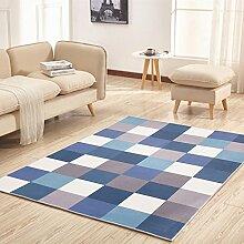 Ali Modernes einfaches Wohnzimmer Sofa mit Sofa quadratischen rechteckigen Eingangshalle Schlafzimmer Schlafzimmer Teppichboden ( Farbe : #2 , größe : 1.2*1.6m )