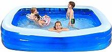 Ali@ Übergroßes aufblasbares Schwimmbad Großes inländisches Kind-Spiel-Swimmingpool Erwachsener Swimmingpool
