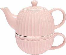 Alice Teekanne mit Tasse Pale pink 15 cm