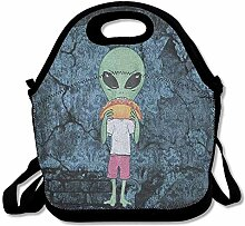 Alien Design Portable Lunch Box Tote Bag Rugged