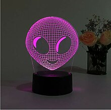 Alien Head 3D Hologramm Illusion Einzigartige