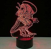 Alien vs Predator Nachtlichter für Kinder, 3D