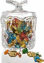 AliGift Vorratsdose aus Kristallglas, Bonbonniere,