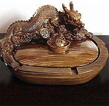 ALILEO Chinesische Art Drachenaschenbecher