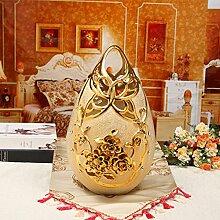 ALILEOEuropäische Keramik Gold Ornamente