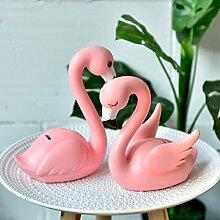 alileo Flamingo Creative Wohnzimmer Schlafzimmer Dekoration Geschenke Fenster Desktop Animal Ornaments, Flamingo size pair