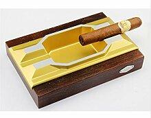 ALILEO Metall Holz Aschenbecher Zigarre Spezielle