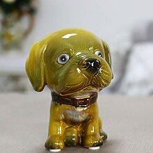 ALILEO Vintage Handmade Miniatur Figuren Hund