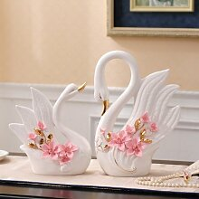 ALILEO Weißer Keramik Schmetterling swan Home Decor Kunsthandwerk Raumdekoration basteln Schmuck Porzellan Tierfiguren Hochzeit Dekoration, B
