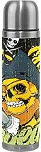 ALINLO Cool Skull Edelstahl-Wasserflasche