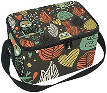 ALINLO Cute Cartoon Owl Lunch Bag, Zipper