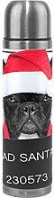 Alinlo Frech Bulldog Weihnachtsmütze Bad Santa