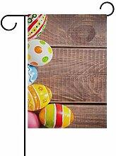 Alinlo Gartenflagge Happy Oaster Bunte Eier auf