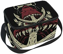 ALINLO Retro Anchor Hipster Shark Lunch Bag,