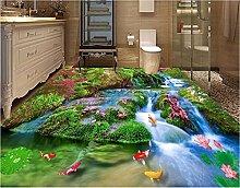 Aliworte 3D Tapete Bodenbelag Wasserfall