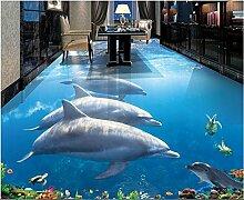 Aliworte 3D Tapete Dolphins Unterwasserwelt