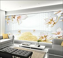 Aliworte 3D Tapete Lebende Magnolie Schlafzimmer