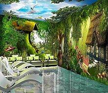Aliworte 3D Tapete Wandbild Wandaufkleber