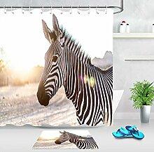 Aliyz African Wildlife Zebra Bad Duschvorhang