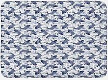 Aliyz Fisch Badematte Japanische Karpfen Koi mit